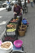 One of the many street traders