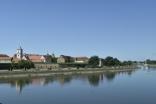 View across Danube at Podravlje, Croatia