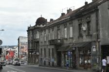 Street view with graffiti