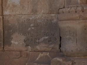 Ishak Pasha Sarayi - Grafitti
