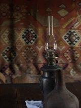 Lamp, rug