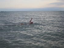 Aqtau, swim in Caspian