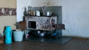A typical cooker, Karakul homestay
