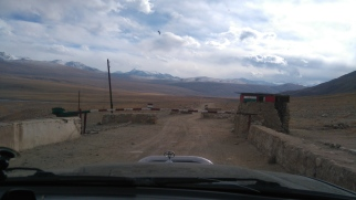 But very little snow on Tajik side of the border