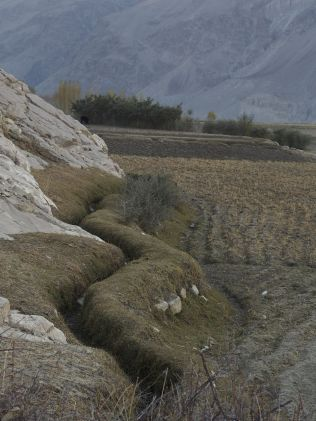 Panj valley irrigation channel - they're everywhere.