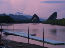 Krabi, before evening thunderstorm