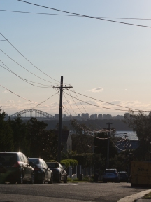 Our first view of Sydney Harbour Bridge