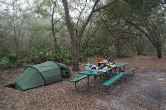 A rural camping spot