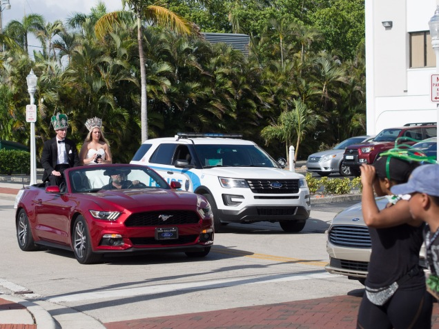 In south Florida every second car is a Mustang convertible. This is Fort Myers.