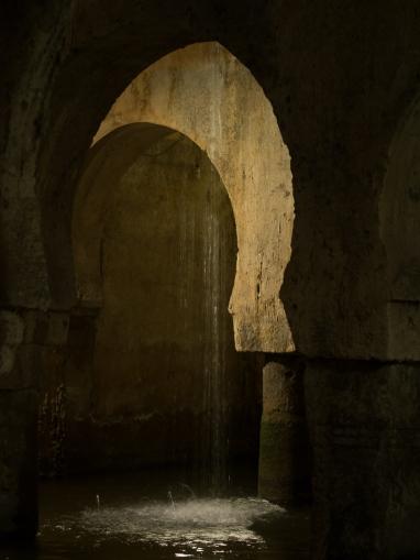 Caceres - Moorish cistern, recycling Roman & Visigoth columns